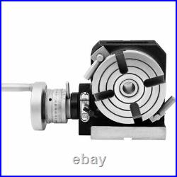 Horizontal Vertical Rotary Table 4/ 100mm 4 Slots for Milling Machine