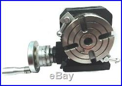 Hv4 (110 Mm) Horizontal Vertical Rotary Table With Suitable Tailstock-milling