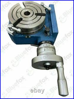 Hv4 Rotary Table (3 Slots) 4/ 110mm With 100mm 3 Jaw Chuck