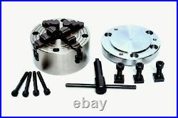 Hv4 Rotary Table(3slot), 100mm Independent Chuck+dividing Plate+clamping Kit
