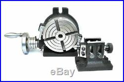 Hv6 Rotary Table (4 Slot)horizontal & Vertical With Double Bolt Tailstock