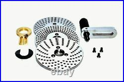 Hv6 Rotary Table With 150mm Independent Chuck+diving Plate Set & M8 Clamping Kit