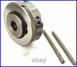 Hv 4 Rotary Table & M6 Clamp Kit & Tailstock (with 65 MM 3 Jaw Self Chuck) Tool