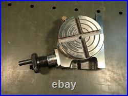 Micro-Mark 84755 3 Vertical & Horizontal Milling Rotary Table index to 1/20 deg