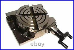 Mini Rotary Table 4 Inch 100mm Horizontal & Vertical Model Milling Machine