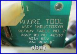 Moore Precision Tools 10-3/4 Indexing Rotary Table 4th Axis, Clean