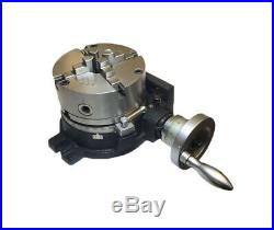 New 150mm 6 Rotary Table Horizontal Vertical Hv6 6 + 4 Jaw Lathe Chuck