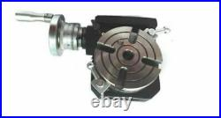 New HV4 Rotary Table 110 mm Horizontal Vertical Milling Indexing Dividing 4 Slot