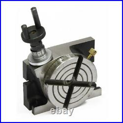 New Rotary Table 4 / 100mm Horizontal Vertical Low profile Gear Ratio 361