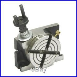 New Rotary Table 4/ 100mm Horizontal and Vertical + 80mm 3 Jaw Chuck