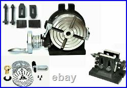 Precision 6 Rotary Table With Indexing Plate Set, Tailstock & M8 Clamping Kit