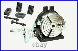 Precision Quality 6/150 MM Rotary Table 3 Slot With Tailstock & M8 Clamping Kit