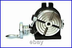 Precision Quality 6 Rotary Table With Indexing Plate Set & M8 Clamping Kit