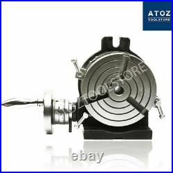 Precision Rotary Table 6 150mm 3 slots Heavy duty Milling Horizontal Vertical