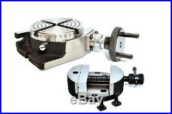 ROTARY TABLE 100MM/4 WITH 100MM ROTARY VICEused in both horizontal & vertical