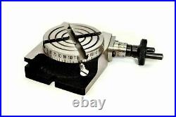 ROTARY TABLE 3 / 80mm WITH 50mm MINI SCROLL CHUCK & M6 CLAMPING KIT SET