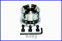 ROTARY TABLE 3 / 80mm WITH 70mm INDEPENDENTCHUCK & M6 CLAMPING KIT SET