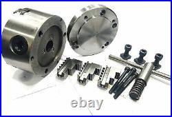 ROTARY TABLE 4/100mm WITH 100mm 3 JAW SELF CENTERING CHUCK & BACKPLATE