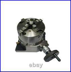 Rdg 4 / 100mm 4 Slot Rotary Table Horizontal / Vertical With 4 Jaw S/c Chuck