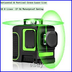 Rotary 8 Lines Green 360 Horizontal & Vertical Laser Level Measure Self-leveling