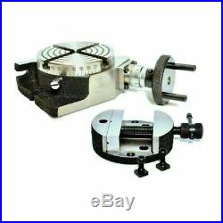 Rotary Table 100 mm 4 Inch With Rotary Vice 100 mm With Horizontal And Vertical