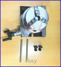 Rotary Table 3 75mm Horizontal And Vertical 65mm 3 Jaw Chuck & Backplate Kit