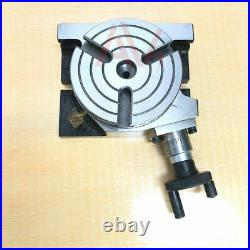 Rotary Table 3 75mm Horizontal And Vertical With 65mm 3 Jaw Chuck & Backplate