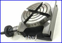Rotary Table 3/ 80 mm with ER-16 Collet Adapter for Instant Milling Machine