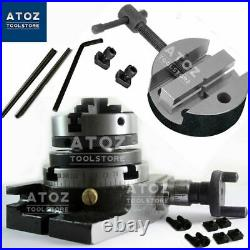 Rotary Table 3 80mm HV + 65mm 3 jaw self centering chuck + Round Vice 80mm Atoz
