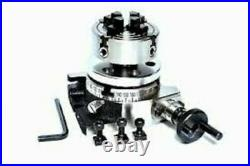 Rotary Table 3/80mm With 70mm Independent Chuck & Backplate
