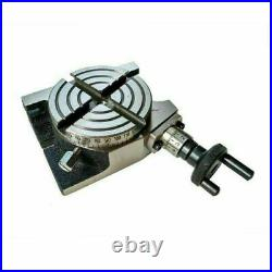 Rotary Table 3 Inch 80 mm 4 Slot With 65 mm Mini Lathe Chuck For Milling Machine