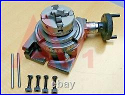 Rotary Table 4100mm Horizontal And Vertical With 65mm 4 Jaw Chuck & Backplate