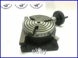 Rotary Table 4Inch/100 mm 3 Slot Horizontal-Vertical For Milling Best Quality