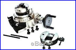 Rotary Table 4/100 mm With 65 mm Mini Lathe Scroll Chuck And Rotary Vice 100 mm