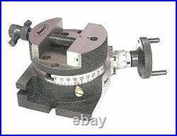 Rotary Table 4/100 mm with Round Vice + T nuts- Milling Metalworking Machine