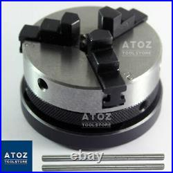 Rotary Table 4 / 100mm HV Model + 65mm self centering lathe chuck + PLATE ATOZ