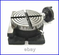 Rotary Table 4 100mm Horizontal And Vertical With 65mm 3 Jaw Chuck & Backplate