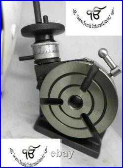 Rotary Table 4 100mm Horizontal Vertical MT2 Bore Model Milling Machine 3 Slots