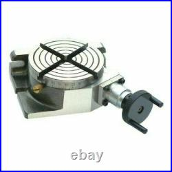 Rotary Table 4/ 100mm Horizontal and Vertical & 65mm 3 Jaw Chuck free shipping