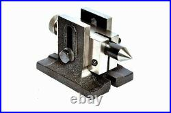 Rotary Table 4/100mm With 50mm Mini Scroll Lathe Chuck & Single Bolt Tailstock