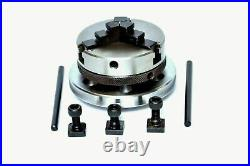 Rotary Table 4/100mm With 65mm Mini Scroll Lathe Chuck & Backplate