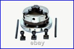 Rotary Table 4/100mm With 65mm Mini Scroll Lathe Chuck & Single Bolt Tailstock