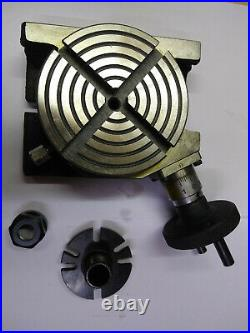 Rotary Table 4/100mm With Er-16 Collet Adapter For Instant Milling Machine
