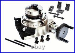 Rotary Table 4 / 100mm with 65mm Lathe Chuck & CLAMPING KIT