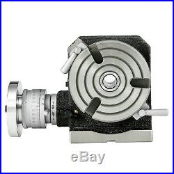 Rotary Table 4 3 Slot with Tail Stock & Dividing Plates for Milling Machine