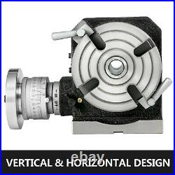 Rotary Table 4 4-Slot Horizontal Vertical Dividing Plates for Milling Machine