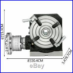 Rotary Table 4 4 Slot with Tail Stock & Dividing Plates for Milling Machine