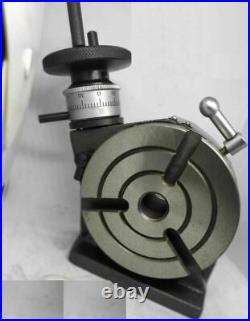 Rotary Table 4 Inch/100 mm 3 Slot H-V MT2 Bore + MT2 Arbour + 70mm 4 jaw chuck