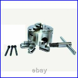 Rotary Table 4 Inch 100 mm With 100 mm Lathe Scroll Chuck With Backplate