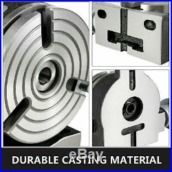 Rotary Table 6 3 Slot with Tail Stock & Dividing Plates for Milling Machine